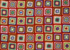 Granny Square Blanket... by Loving The Vintage, via Flickr
