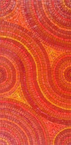 red/orange analogous mosaic ----------------------------------------------------- This mosaic is brilliant! and wow: yellow, orange, red orange, yellow orange. Just such warm colors. Jaune Orange, Orange Yellow, Orange Color, Orange Art, Orange Trees, Mosaic Art, Mosaic Glass, Mosaic Tiles, Stained Glass
