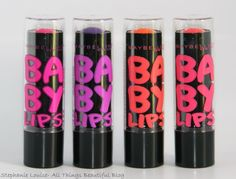 NEW Maybelline Electro Baby Lips Swatches & Review http://stephanielouiseatb.blogspot.com/2013/07/new-maybelline-electro-baby-lips.html