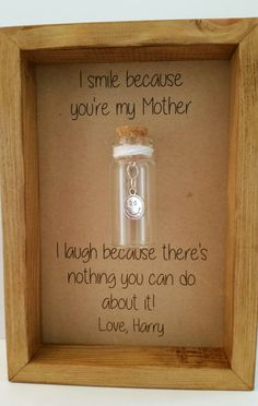 Mothers Day gift, Gift for Mum. Cute, Funny. Option to have it personalised with your own message.