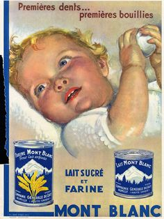 ☤ MD ☞☆☆☆ 1933 vintage ad. for Mont Blanc Baby Farina & Milk. French.