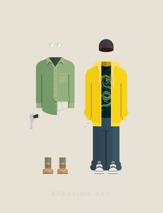 Famous Costumes Posters | Breaking Bad by Frederico Birchal, via Behance