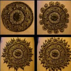 detailed circles mehandi - finishing