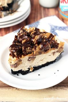 No-Bake Reese's Peanut Butter Cup Cheesecake.