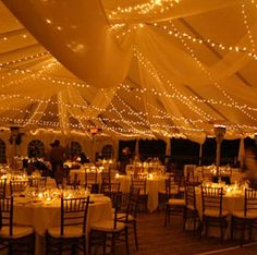 I really want an outside/tent wedding!!  So pretty!!!!!  If we have enough plugs.....use tobacco canvas, I have plenty