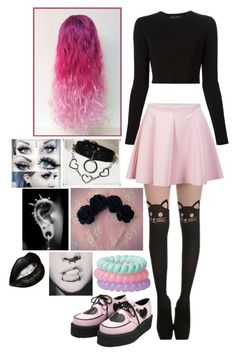 """#Pastel Goth"" by kylaamador ❤ liked on Polyvore featuring Proenza Schouler, ONLY, women's clothing, women's fashion, women, female, woman, misses and juniors                                                                                                                                                                                 More"