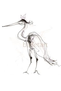 Couture Flamingo art, bird art, pencil drawing, black and white art, art print, flamingo print, bird illustration, bird artwork, animal art, graphite drawing, black pencil print size is 8.5 by 11 (on aquarelle, watercolor paper)). used graphite / pencil, ink on paper  www.balletart.etsy.com Copyright of Lousine Hogtanian  At ETSY by BalletArt