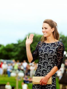 Kate Middleton wearing black lace dress Can I pull my lace dresses out of storage now?! :D