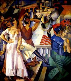 art,1913,lhote-L'escale (1913) Huile sur toile (202 x 180)