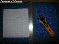 JeBrode.com: Une petite bourse vide-poche en origami Pochette Portable Couture, Vide Poche, Point, Door Handles, Quilting, Crochet, Fabric Origami, Small Purses, Storage