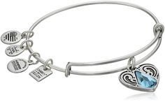 CustomCharms Maryland State Gold Expandable Wire Charm Bracelet Bangle w//Purple Color Crystals