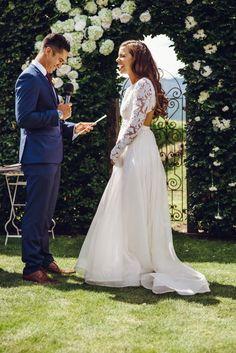 Anna Campbell Organza skirt (Anna Campbell) & Chante (Houghton) Second Hand Wedding Dress on Sale 55% Off