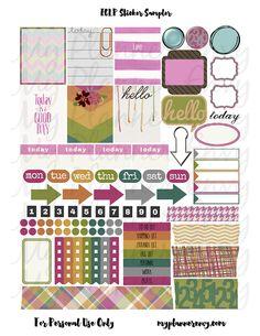 Various Colored Sticker Sampler   My Planner Envy