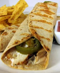 Throw this Chicken Popper Wrap recipe together for a quick lunch or snack.