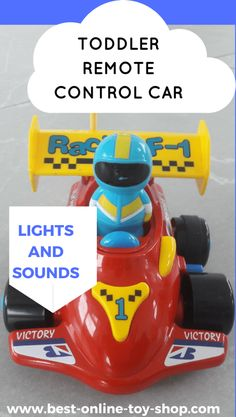 I love our remote control car for toddler complete with lights and sounds! It really is one of the best toddler toys and gift ideas for boys and girls!