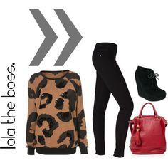 leopard print sequin sweatshirt...