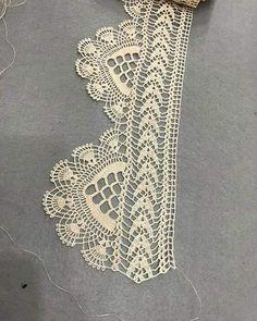 Çeyizlik havlu kenarı çarşaf eteği dantel örneği yapılışı&crochet - MyKingList.com