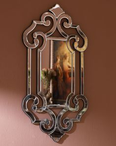 Gojee - Beveled Scroll Mirror by Horchow