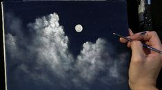 Moonlit Clouds Canvas Size: 11 X 14 Lesson Length: 45 minutes Learn to paint Moonlit Clouds from start to finish in this roughly one hour and forty-fiv