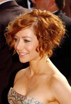 curly red bob - Google Search