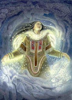 Many Colors of the Goddess: Pana and Pinga; Inuit Goddesses of the Soul The Many Colors of the Goddess: Pana and Pinga; Inuit Goddesses of the SoulThe Many Colors of the Goddess: Pana and Pinga; Inuit Goddesses of the Soul Arte Inuit, Inuit Art, Goddess Of The Sea, Goddess Art, Native American Mythology, Native American Art, Art Magique, Sacred Feminine, Divine Feminine
