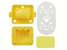 Yude Tama Egg Molds & Cutter | Kitty Cat Set