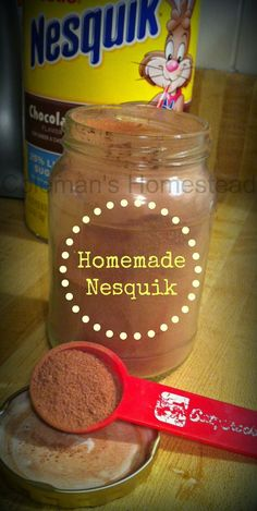 Nesquik copy-cat recipe! Only three ingredients...this post tells you how to avoid the clumps too!!