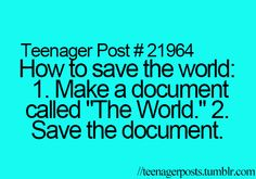 And then the document can be the lyrics to the song 'The World' by Nightmare cuz you know you love that song XD