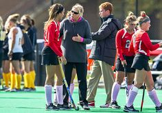OSU coach Anne Wilkinson coaches up her players during a timeout in a game against Iowa Oct. 19. at Buckeye Varsity Field. OSU lost 2-1. Credit: Ben Jackson / For The Lantern