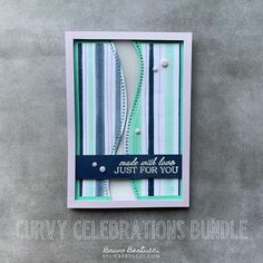 Hi There - Bruno here. I have a neat project to share with you using the Curvy Celebrations Bundle. This is an advance release product from the Upcoming Mini Catalogue (released in January) and is teamed with the cool Playing with Patterns DSP. Visit our blog for more info (link in bio).     #stampinup #cardmaking #handmadecard #rubberstamps #stamping #kyliebertucci #loveitchopit