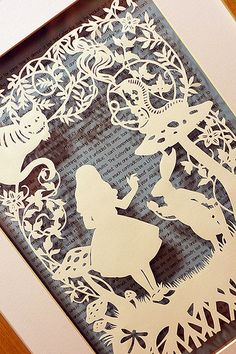 Alice in Wonderland Paper Cut