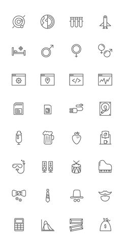 60 Free Outline Icon Sets Perfect for Contemporary Designs