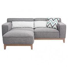 Seattle 2 Seater Sofa and Ottoman - Cozy Lane Apartment Furniture Milan Direct