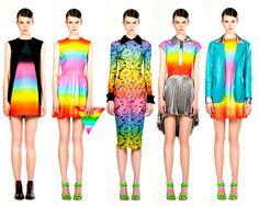 Christopher Kane rainbow fashion