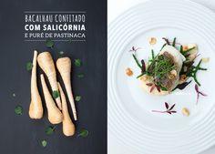 Bacalhau Confitado com Salicórnia e puré de Pastinaca Saliva.pt