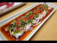 Octopus Carpaccio - How To Make Sushi Series - YouTube