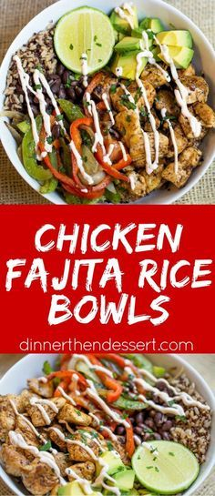 Easy Chicken Fajita Rice Bowls are healthy and quick to make! MixInMinute AD @minutericeUS