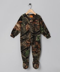 Look what I found on #zulily! Green Camo Fleece Footie - Infant, Toddler & Kids by Trail Crest #zulilyfinds