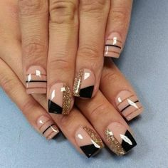 Cute Nail Art Designs For Short Nails 2019 43 Fabulous Nails, Gorgeous Nails, Pretty Nails, Hot Nails, Hair And Nails, Nagellack Design, Cute Nail Art Designs, Nagel Gel, Acrylic Nail Art