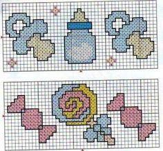 Bom Viver Náh: GRÁFICOS MOTIVOS INFANTIS - CROCHÊ- TRICÔ - PONTO CRUZ ( ITENS BEBÊS ) Baby Cross Stitch Patterns, Crochet Edging Patterns, Cross Stitch For Kids, Cross Stitch Charts, Cross Stitch Designs, Cross Stitch Fairy, Butterfly Cross Stitch, Mini Cross Stitch, Cross Stitch Rose
