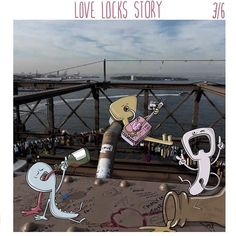 LOVE LOCKS STORY - Chapter 3/6 Otto went to America in search of Rita, his only love. He made new friends - a busker and a 'The King', a keyring bottle opener. They helped him to forget Rita for a while. Busker - Hey little fella, what's up? Otto - What?  Busker - I can tell by the way you use your walk... you're not from here.  Otto - I just arrived. I came from Paris. I'm looking for my… Busker - Fugeddaboudit! Listen, let me introduce you to The King, he has stuff that'll make you feel…