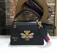 85fbd1004468 Gucci Queen Margaret Small Top Handle Bag 476541 Black Size:25.5 x 17.0 x  13.0