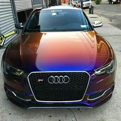 Gorgeous paint job. Would look great on a Tesla Model S too...