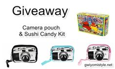 Gwiyomistyle: [Giveaway] Camera Pouch and Sushi Candy Kit