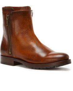 sale retailer 9aca1 27362 Frye Women s Whiskey Natalie Double Zip Booties - Round Toe