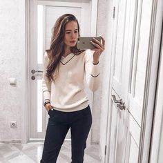 5b769e2458 Women Sweater V-neck Knitted Pullover Female Soft Basic Cashmere Jumper  Casual. Cashmere JumperShoulder SleeveGrey SweaterWork WearSweaters ...