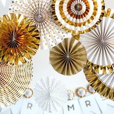 Fancy Gold Foil Party Pinwheels