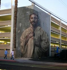 Las Vegas Mural by Borondo Must Be Viewed From Just the Right Angle (5 pictures)