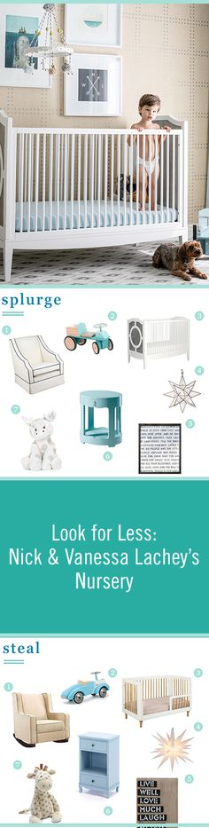 Nick and Vanessa Lachey decorated their son's nursery beautifully. Get their classic and chic look for less with these similar decor ideas.