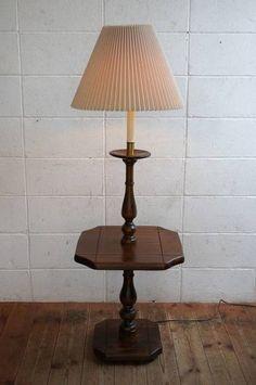 アンティーク70's棚付きシェードフロアランプUSスタンドライト インテリア 雑貨 家具 Antique lamp shade ¥18900yen 〆05月02日